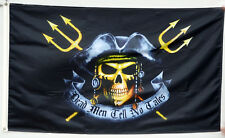 Dead Men Tell No Tales Tridents Boat Flag Pirates Jolly Roger 3X5Ft Us Seller