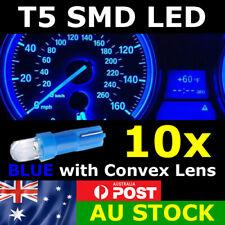 10x T5 BLUE SMD LED Dash Instrument Light Dashboard Bulb Globe Convex Lens 12v