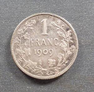 Belgium, Silver 1 Franc, 1909, nicely toned