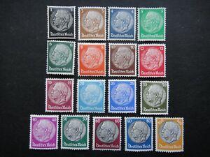 Germany Nazi 1933 - 1936 Stamps MINT Pres. von Hindenburg Third Reich German Deu