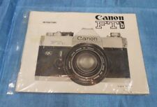 ORIGINAL CANON FTB CAMERA INSTRUCTIONS MANUAL BOOKLET - ENGLISH EDITION
