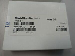 Lot of 10 Mini-Circuits VAT-6+ 6 dB Fixed Attenuator, DC - 6000 MHz, 50Ω SMA