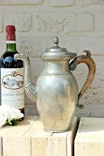 Antique 18thc very old Flemish pewter tea coffee pot dragon gothic castle