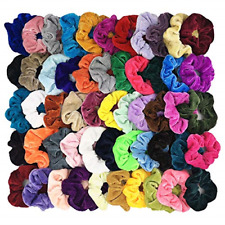 54pcs Hair Scrunchies Velvet Elastic Hair Bands Scrunchy Colorful Ties Ropes