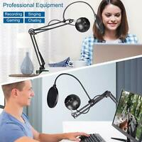 Microphone Desk Arm Stand Mount Boom Scissor Mic Holder For Blue Yeti Snowball