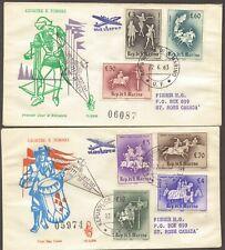 1963 San Marino Medieval Ancient Tournaments LTD EDT Covers