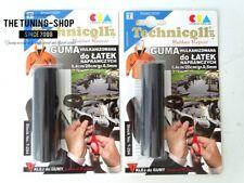 2x En Caoutchouc Vulcanisé Pour Réparation Patches Taille 8,4cm/20cm/0.5mm