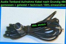 TOP 484 Mono Röhren Radio Tonband Aufnahme Kabel Klinke 3,5mm DIN 5 s. GRUNDIG