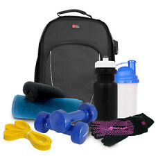 Black Bag for Yoga / Gym / Fitness Accessories & Equipment W/ Interior Dividers