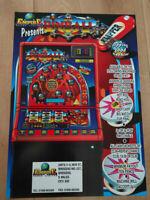 "Empire Games Ltd ""Pinball"" Arcade Fruit Club Machine A4 Sales Flyer"