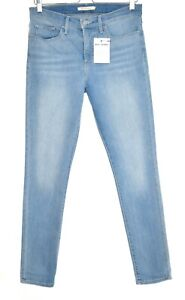 Womens Levis SHAPING SKINNY 311 Light Blue Stretch Jeans Size 10 W29 L32