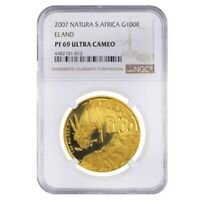 2007 1 oz South Africa Natura Eland Proof Gold Coin NGC PF 69 UCAM