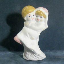 "Wedding Bride & Groom cake topper, china figures 3.75"" B32"