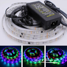5M WS2811 5050 Horse Race RGB Full color 150LED strip IP65 + 5A 12V US power