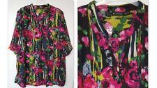 Maglie e camicie da donna camicetta multicolore con scollo a v