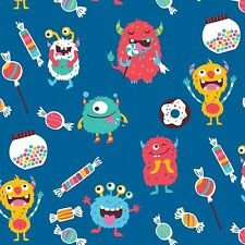 "Jersey "" Hungry Monsters "" Monster - blau - Eigenproduktion - Emmilove"