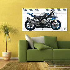 BMW HP4 RACE SPORT BIKE MOTORCYCLE LARGE HD POSTER 24x48in