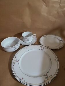 "Princess House Exclusive 5-Pc. Fine  Porcelian Place Setting ""Heritage Blossom"""