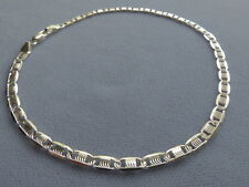 """Bracelet-Detailed Swirly Etched / Polished New-10"""" Italian Sterling Silver Ankle"""