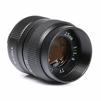 FUJIAN 25mm f/1.4 c mount cctv f1.4 lens for NEX EOSM M4/3 N1 FX Mount camera