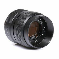 FUJIAN 25mm f/1.4 c mount cctv f1.4 lens for NEX EOSM M4/3 N1 FX Mount camera
