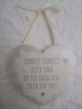 """ Twinkle Twinkle Little Star "" Childs Wooden Wall Plaque"
