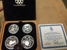 1976 Silver Canadian Montreal Olympic Proof Set 4 Coins, Series 4, Original Box