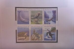 2008 MARSHALL ISLANDS MARINE LIFE   WHALE  BLOCK OF 6 MUH STAMPS