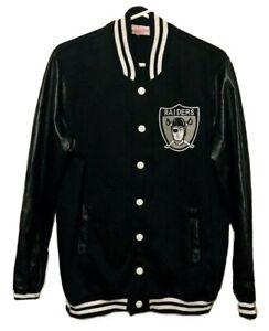 Mitchell & Ness OAKLAND RAIDERS Authentic Varsity Snap Letterman Jacket Mens 2XL