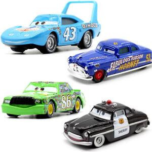 1:55 4pcs Set Disney Pixar Cars King Sheriff Chick Hicks Hudson Diecast Toy Xmas