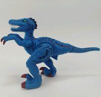 "2006 Mattel Imaginext Shreds Blue Raptor Poseable 5"" Dinosaur Toy Figure"