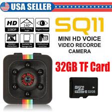 SQ11 Full HD 1080P Mini Car Hidden DV DVR Camera Dash Cam IR Night + 32GB TF
