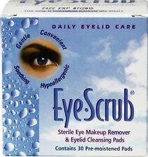 Eye Scrub Lid Sterile Eye Makeup Remover & Eyelid Cleansing Pads 30 each