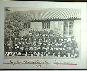 5 ANTIQUE PHOTO CABINET CHINA HONGKONG ALBUMEN SUBMARINE MINING COY 1903 #5