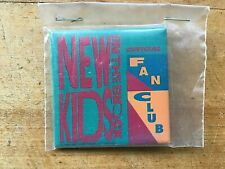 New Kids on the Block Official Fan Club Pin-Back Button 1990 Mint