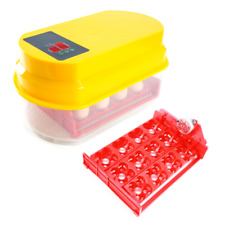 Paw Mate Digital Egg Incubator for 12 Eggs - Yellow/Clear/Red