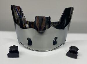 Football Helmet Visor,  Eye Shield , Mirror Silver Brand New !! Chrome W/ Clips