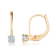 14k Petite Aquamarine Leverback Earrings