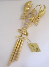 Wind Chime LOBSTER--Austrian Crystals-24K gold plated-clear crystals