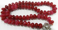 """New 6x10MM Natural Faceted Red jade Abacus Beads Necklace 18"""""""