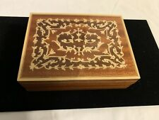 Vtg. Reuge Swiss Walnut Inlaid Music Box