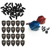 40Pcs Black Nylon Dart Flight Protector + 20Pcs Standard Shape Dart Flights