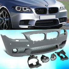 FOR 2011-2016 BMW 5-SERIES F10 M5 STYLE FRONT BUMPER W/GRILLE+PDC+2PCS FOG LIGHT