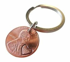 2009 Penny Keychain with Hand Stamped Heart Around Year; Anniversary Gift