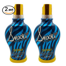 2Pk SNOOKI Skinny Dramatically Dark Black Bronzer Tanning Lotion Maximizer
