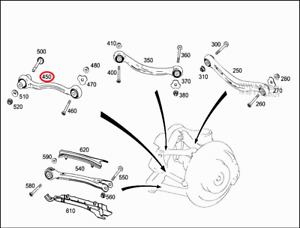 Mercedes-Benz AMG GLC63s C253 TIE ROD LEFT REAR A2053506723