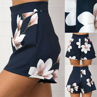 new stylish Women's Pants Floral Print Ladies High Waist Short Summer Hot Shorts