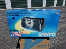 Sanyo CWM-320 Portable CD AM/FM stereo Cassette player Boombox. NOS!!!