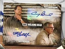 The Walking Dead Trading Season 5 Card Cryptozoic Double Autograph Card 39/99
