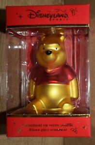 Disney Store Disneyland Paris Winnie the Pooh Hanging Ornament Christmas Gift